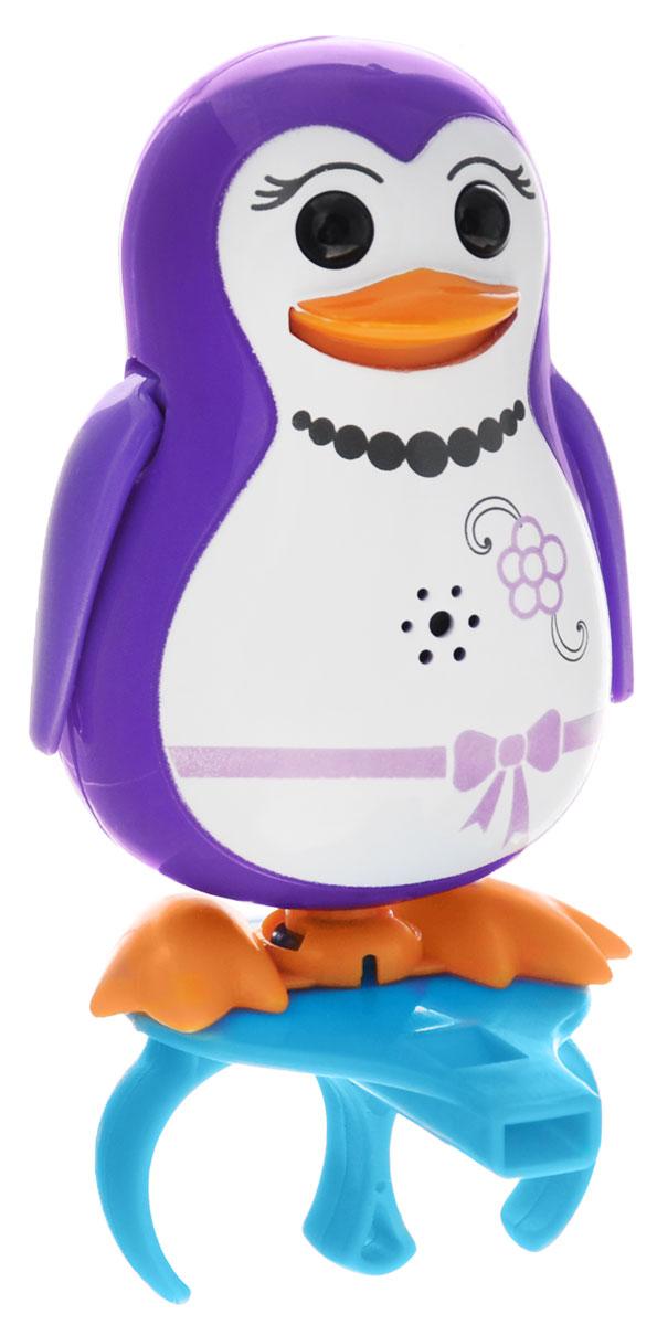 DigiPenguins Интерактивная игрушка Пингвин Penny88333_фиолетовыйИнтерактивный пингвин DigiPenguins Penny - это забавная интерактивная игрушка, которая займет малыша на длительное время. Пингвин стоит на специальном свистке, который удобно держать на двух пальцах. Эта игрушка умеет выполнять разные действия: издавать крики пингвинов, петь песенки, при этом двигая клювом, поднимая и опуская крылышки и раскачиваясь. Если подуть на грудку пингвина, он начнет издавать характерные для пингвинов звуки. Если подуть в свисток, пингвин станет исполнять известную песенку. Игрушка воспроизводит свыше 55 музыкальных свистов. 2 режима работы игрушки: соло и хор. При переключении в режим хора можно последовательно подсоединять пингвинов к главному, в результате они будут вместе исполнять песенки вслед за главным пингвином и общаться друг с другом. Игрушка развивает музыкальный слух, любовь к музыке и животным. Для работы игрушки необходимы 3 батарейки напряжением 1,5V типа AG13/LR44 (товар комплектуется демонстрационными).