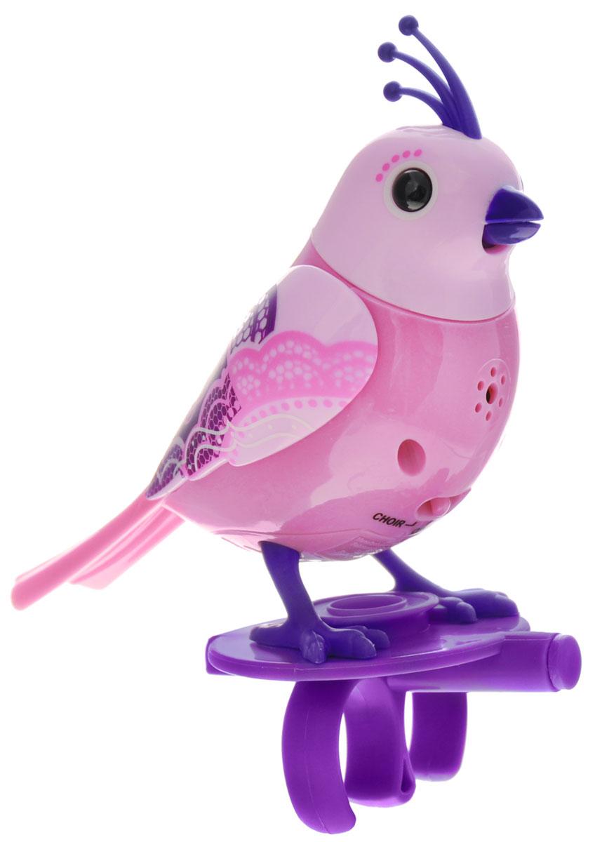 DigiBirds Интерактивная игрушка Птичка Lacy88286_сиреневыйИнтерактивная игрушка Птичка DigiBirds Lacy - это забавная интерактивная игрушка, которая займет малыша на длительное время. Птичка стоит на специальном свистке, который удобно держать на двух пальцах. Эта игрушка умеет выполнять разные действия: щебетать, петь песенки, при этом двигая головой и клювом. Если подуть на грудку птички, она начнет щебетать. Если подуть в свисток, птичка станет исполнять известную песенку. Игрушка воспроизводит свыше 55 музыкальных свистов. 2 режима работы игрушки: соло и хор. При переключении в режим хора можно последовательно подсоединять птичек к главной, в результате они будут вместе исполнять песенки вслед за главной птичкой и щебетать друг с другом. Игрушка развивает музыкальный слух, любовь к музыке и животным. Для работы игрушки необходимы 3 батарейки напряжением 1,5V типа AG13/LR44 (товар комплектуется демонстрационными).