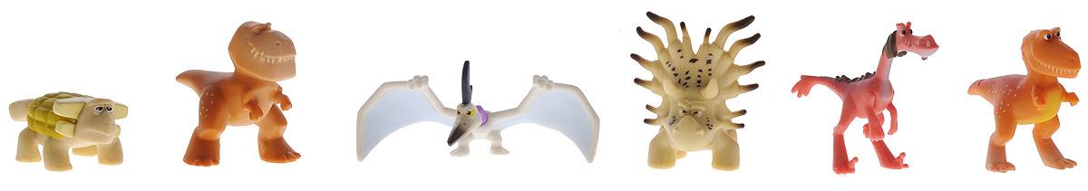 Хороший динозавр Набор мини-фигурок Анкилозавр, Раптор, Бур, Рамзи, Аконтофиопс, Птеродактиль62309Набор мини-фигурок Хороший динозавр Бутч и его стая без сомнения понравится вашему ребенку, ведь теперь он сможет пережить самые яркие моменты мультфильма с его героями или отправиться на новые приключения. Фигурки изготовлены из высококачественных нетоксичных материалов, абсолютно безопасных для вашего малыша. В набор входят 6 фигурок героев мультфильма с подвижными частями тела: Анкилозавр, Раптор, Бутч, Рэмси, Аконтофиопс, Птеродактиль. Ваш ребенок часами будет играть с такой игрушкой, придумывая различные истории. Порадуйте его таким подарком!