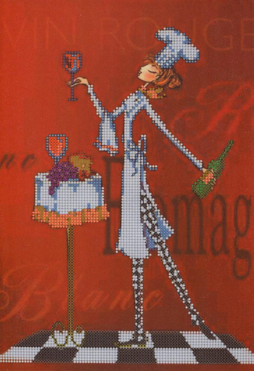 Канва с рисунком для вышивания бисером Alisena Девушка повар, 25 см х 32 см. 383210383210Канва с рисунком для вышивания бисером Alisena Девушка повар изготовлена из атласа. Вышивка выполняется в технике Монастырский шов бисером Пресиоза № 10 (Чехия). Создайте свой личный шедевр - красивую вышитую картину. Работа, выполненная своими руками, станет отличным подарком для друзей и близких! Рекомендуемое количество цветов: 14.