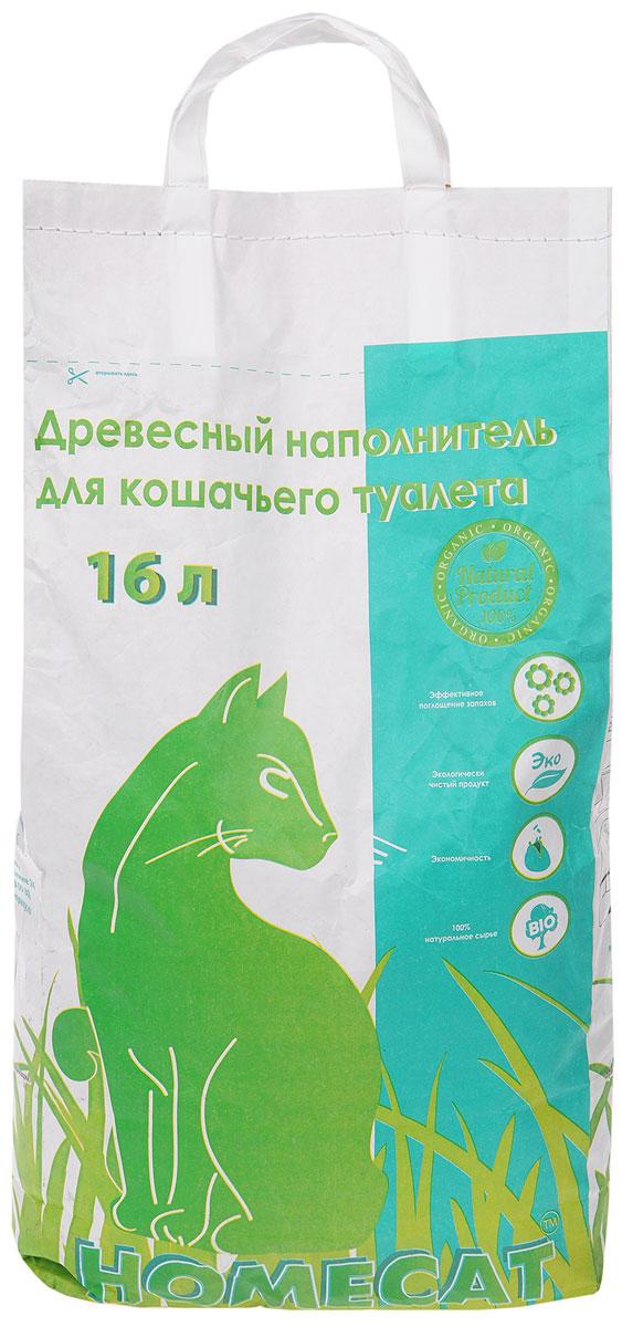 HOMECAT Древесный наполнитель мелкие гранулы 16л60084