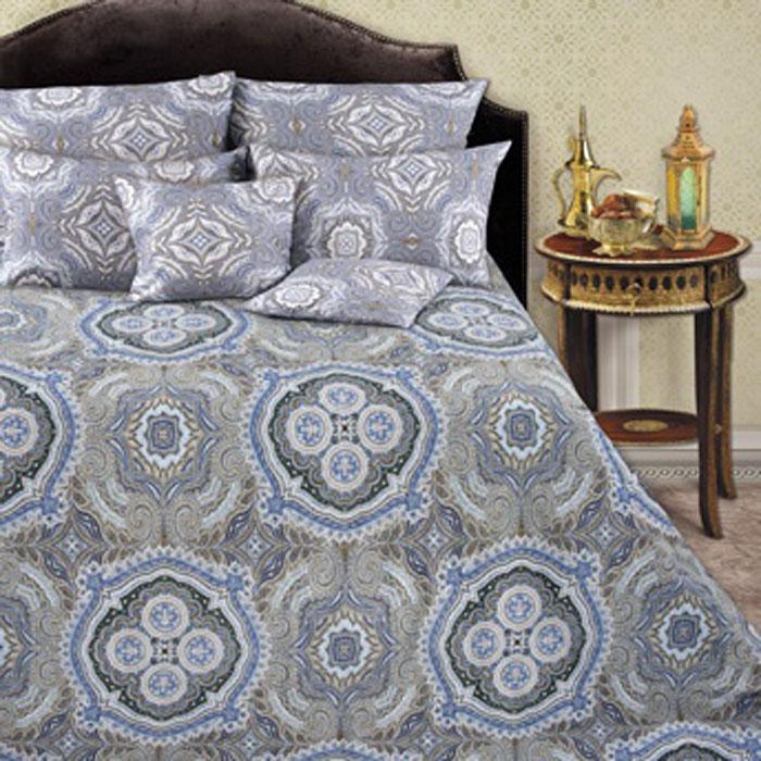 Комплект белья Romantic Валери, 2-спальный, наволочки 50х70, цвет: синий, серый, коричневый319114Роскошный комплект постельного белья Romantic Валери выполнен из ткани Lux Cotton, произведенной из натурального длинноволокнистого мягкого 100% хлопка. Ткань приятная на ощупь, при этом она прочная, хорошо сохраняет форму и легко гладится. Комплект состоит из пододеяльника, простыни и двух наволочек, оформленных оригинальным узорам. Постельное белье Romantic создано специально для утонченных и романтичных натур. Дизайн постельного белья подчеркнет ваш индивидуальный стиль и создаст неповторимую и романтическую атмосферу в вашей спальне.