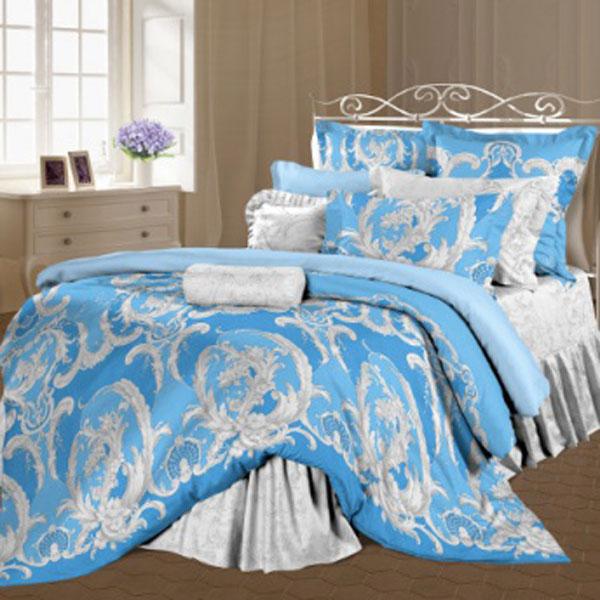 Комплект белья Романтика Визави, 2-спальный, наволочки 70х70, цвет: светло-серый, голубой317933Роскошный комплект постельного белья Романтика Визави выполнен из ткани Lux Перкаль, произведенной из натурального 100% хлопка. Ткань приятная на ощупь, при этом она прочная, хорошо сохраняет форму и легко гладится. Комплект состоит из пододеяльника, простыни и двух наволочек, оформленных цветочным принтом и узорам. Благодаря такому комплекту постельного белья вы создадите неповторимую и романтическую атмосферу в вашей спальне.