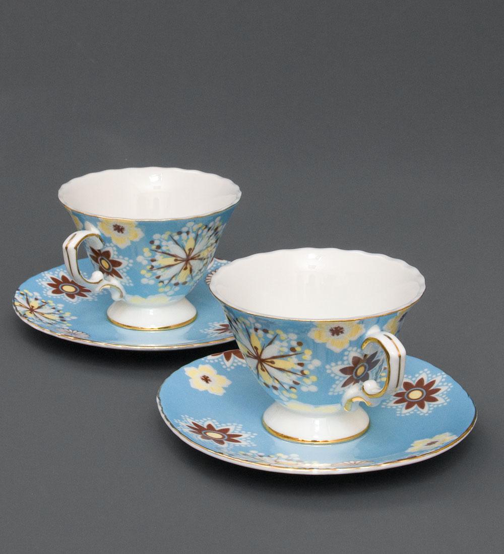 Чайный н-р на 2 перс Антонелла голуб451375