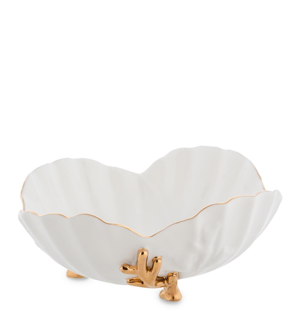 Пиала Pavone Морская ракушка, цвет: белый, золотистый, 200 мл10947Пиала Pavone Морская ракушка, выполненная из высококачественного фарфора, оснащена тремя элегантными ножками и декорирована золотистой каймой. Изделие предназначено для красивой сервировки стола. Пиала сочетает в себе оригинальный дизайн и функциональность. Она дополнит коллекцию кухонной посуды и будет служить долгие годы. Объем: 200 мл. Диаметр (по верхнему краю): 14,5 см. Высота пиалы: 6,5 см.