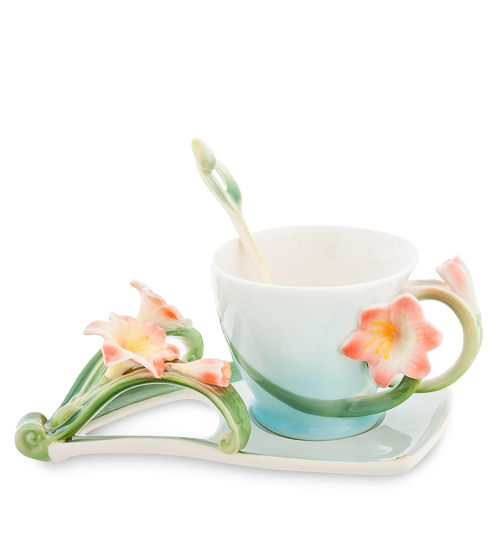 Чайная пара Pavone Кливия, 3 предмета
