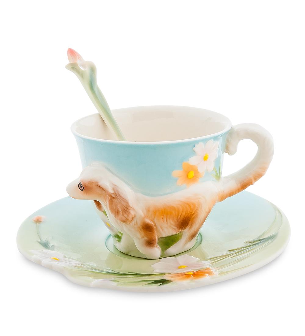 Набор чайный Pavone Спаниель, 3 предмета105923Чайный набор Pavone Спаниель изготовлен из высококачественного фарфора. Набор состоит из чашки, блюдца и чайной ложки. Изделия имеют необычный дизайн, который придется по вкусу ценителям классики и тем кто предпочитает современный стиль. Изящный набор эффектно украсит стол к чаепитию и порадует вас функциональностью и ярким дизайном. Объем кружки: 150 мл. Высота кружки: 6 см. Диаметр блюдца: 15 см.