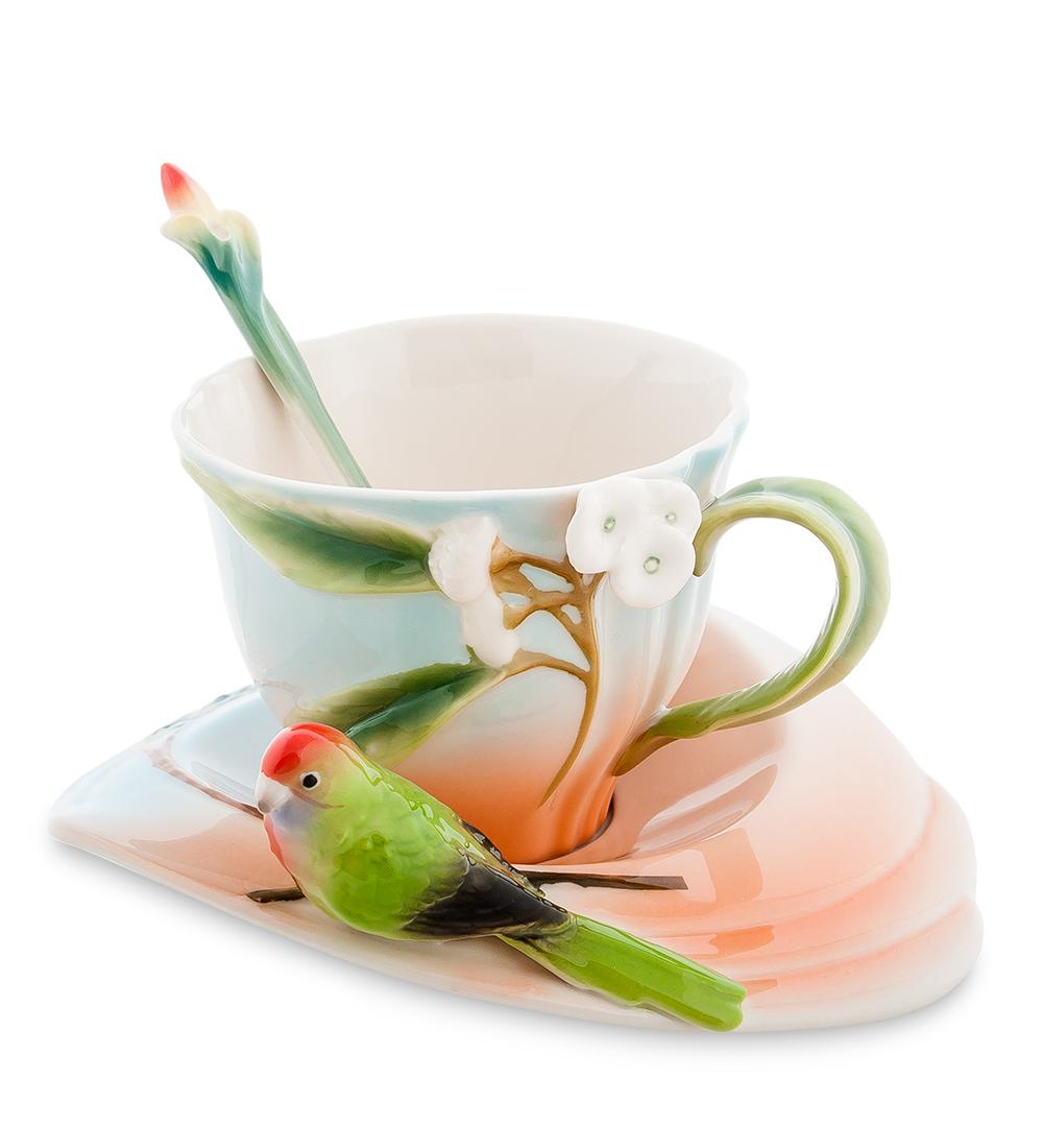 Чайная пара Попугай Розелла (Pavone)106743