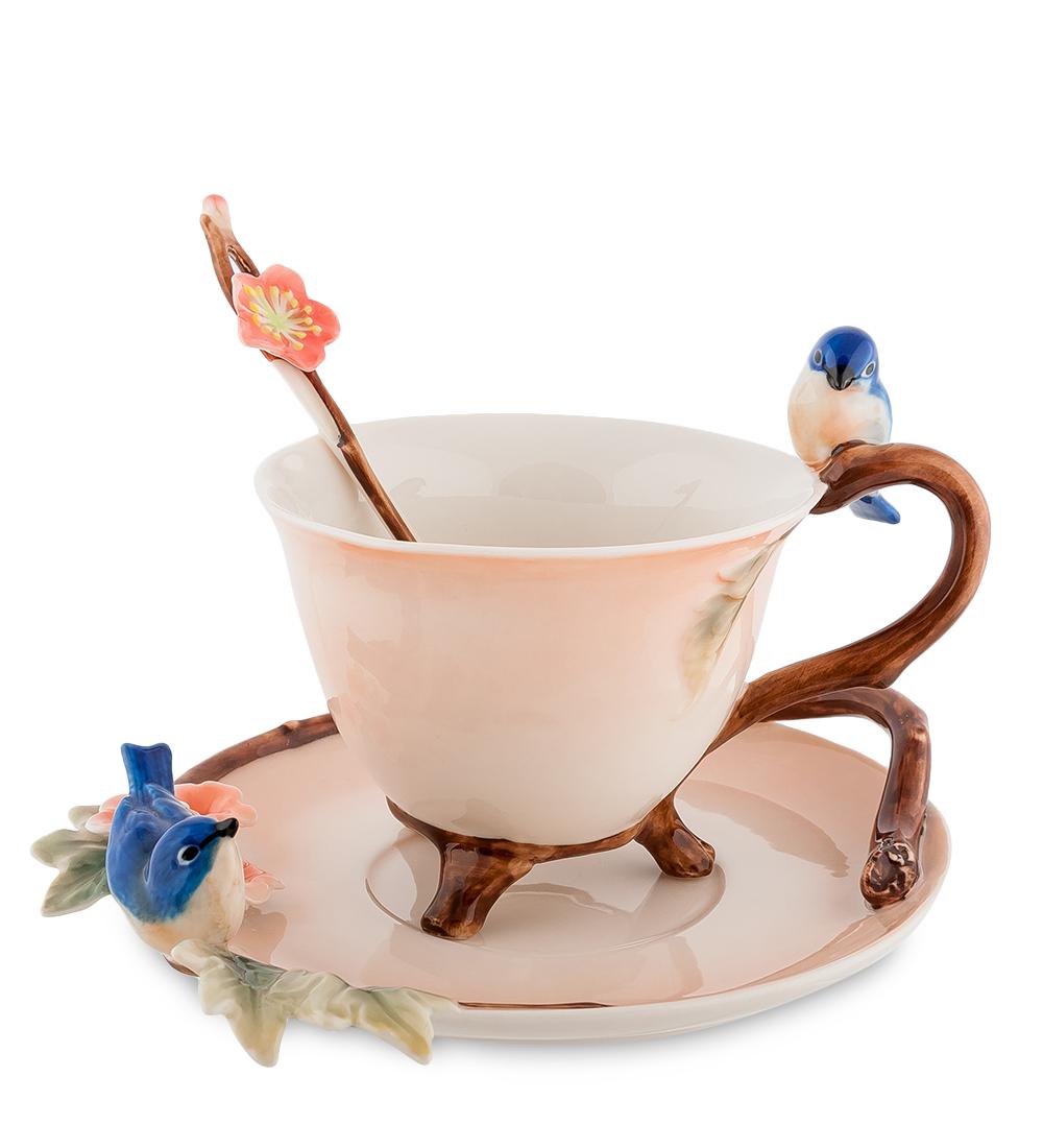 Чайная пара Голубые птицы (Pavone)106747