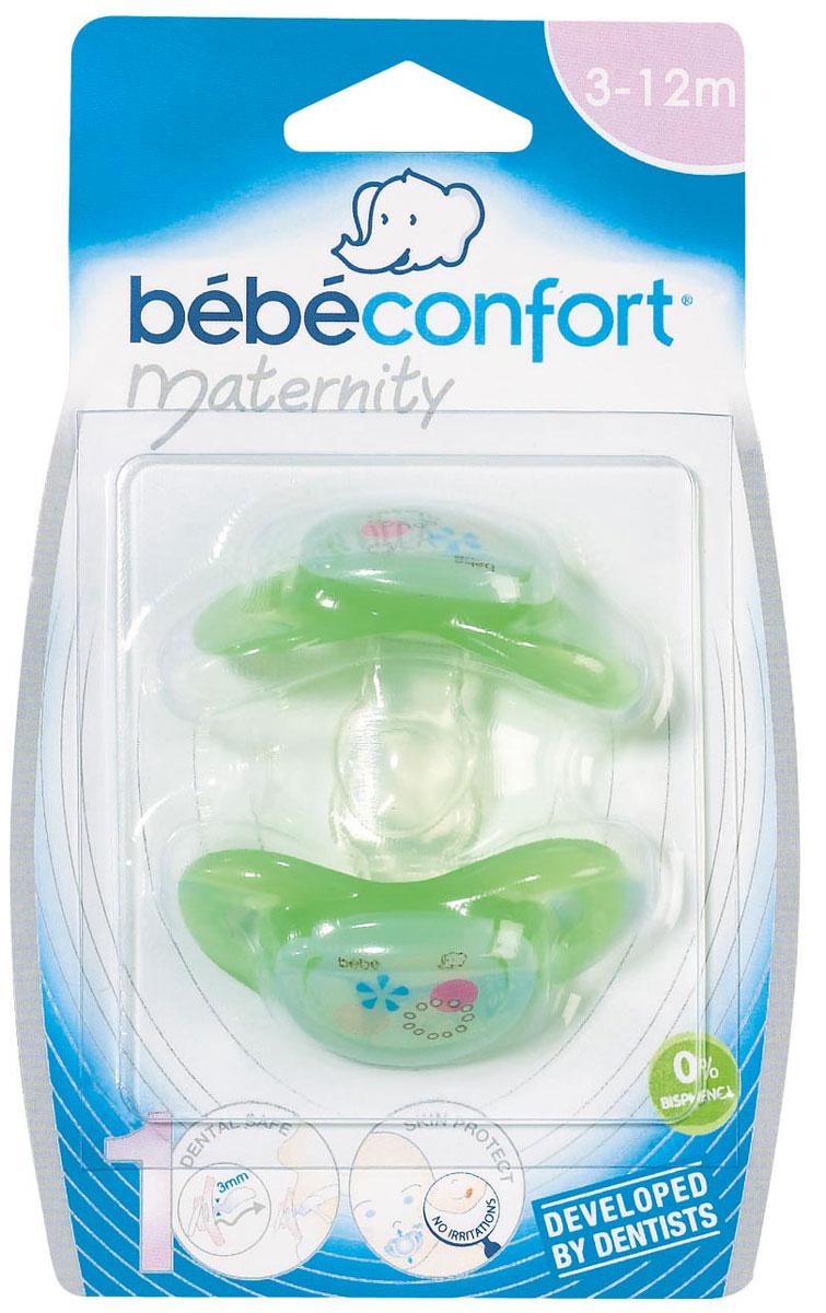 Bebe Confort Пустышка силикон Safe Т1 2шт 3-12 м30000714Комплект из 2-х силиконовых пустышек серии SAFE DUMMIIES с кольцом. толщина соска у основания 3 мм 0-12 мес. 3 цвета: белый, красный и синий