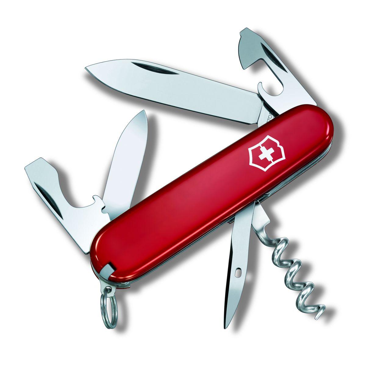 Нож перочинный Victorinox Tourist 0.3603, цвет: красный0.3603Швейцарский армейский нож TOURIST имеет 12 функций: 1. Большое лезвие 2. Малое лезвие 3. Шило, Кернер 4. Штопор 5. Кольцо для ключей 6. Пинцет 7. Зубочистка 8. Открывалка для бутылок с: 9. - Отверткой 10. Консервный нож с: 11. - Отверткой 12. - Инструментом для снятия изоляции Цвет: красный