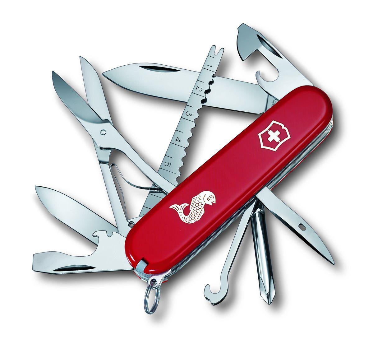 Нож перочинный Victorinox Fisherman 1.4733.72, цвет: красный