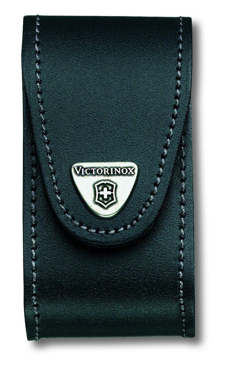 Чехол для ножей Victorinox, на ремень, цвет: черный, 10 см х 5 см4.0521.31Чехол для ножей Vectorinox выполнен из натуральной кожи. Изделие крепится на ремень при помощи поворотной клипсы и закрывается на застежку-липучку. Чехол подходит для переноски ножей толщиной 5-8 уровней.