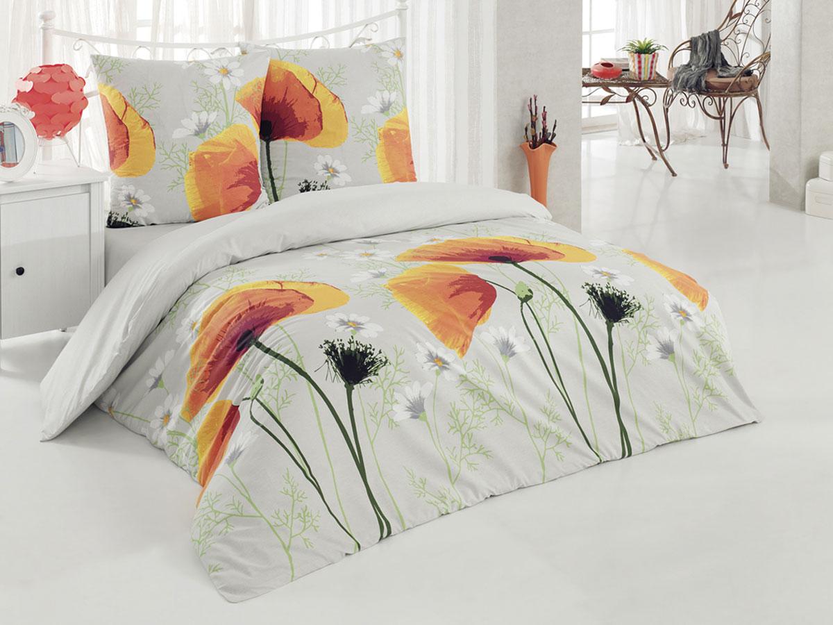 Комплект белья Tete-a-Tete Classic Акварель, 1,5-спальный, наволочки 70х70, цвет: светло-серый, оранжевый, желтый. К-8074К-8074Комплект постельного белья Tete-a-Tete Classic Акварель является экологически безопасным для всей семьи, так как выполнен из бязи (100% натурального хлопка). Гладкая структура делает ткань приятной на ощупь, мягкой и нежной, при этом она прочная и хорошо сохраняет форму. Ткань легко гладится, не линяет и не садится. Комплект состоит из пододеяльника, простыни и двух наволочек. Изделия оформлены цветочным принтом. Комплект постельного белья Tete-a-Tete Classic Акварель станет отличным дополнением вашего интерьера и подарит гармоничный сон.