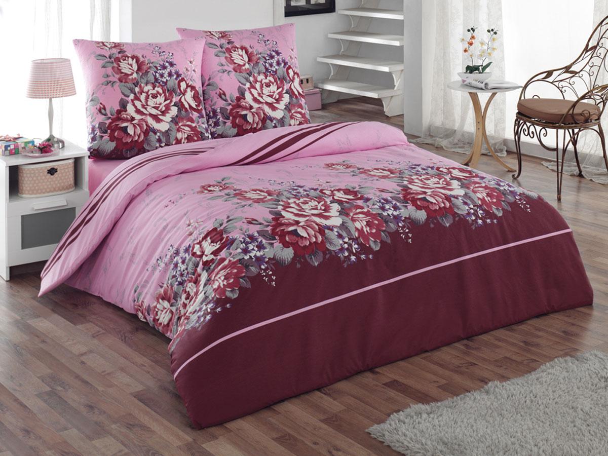 Комплект белья Tete-a-Tete Classic Шармэль, 1,5-спальный, наволочки 70х70, цвет: бордовый, розовый, фиолетовый. К-8071К-8071Комплект постельного белья Tete-a-Tete Classic Шармэль является экологически безопасным для всей семьи, так как выполнен из бязи (100% натурального хлопка). Гладкая структура делает ткань приятной на ощупь, мягкой и нежной, при этом она прочная и хорошо сохраняет форму. Ткань легко гладится, не линяет и не садится. Комплект состоит из пододеяльника, простыни и двух наволочек. Изделия оформлены цветочным принтом. Комплект постельного белья Tete-a-Tete Classic Шармэль станет отличным дополнением вашего интерьера и подарит гармоничный сон.