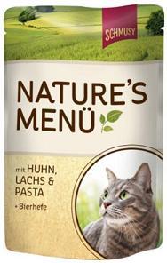 Консервы для кошек Шмуси курица с лососем70011Шмуси натура - это полноценная еда для кошек и котов с множеством натуральных ингредиентов. Корм Шмуси богат содержанием отборного мяса, потому что кошки - это настоящие хищники и нуждаются в пище, богатой белками. В этих пакетикахх маленькие кусочки мяса залиты деликатным соусом. Кроме отборного мяса в состав входят пивные дрожжи, которые укрепляют имунную систему кошек. Также добавлен таурин для правильного развития организма кошек. Состав: Курица, лосось, отборное мясо, печень, мясные субпродукты, паста, пивные дрожжи, минеральные вещества.