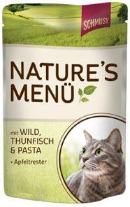 Консервы для кошек Шмуси дичь с тунцом70014Шмуси натура - это полноценная еда для кошек и котов с множеством натуральных ингредиентов. Корм Шмуси богат содержанием отборного мяса, потому что кошки - это настоящие хищники и нуждаются в пище, богатой белками. В этих пакетикахх маленькие кусочки мяса залиты деликатным соусом. Кроме отборного мяса в этот корм добавлен яблочный жмых, который отлично регулирует деятельность желудка и кишечника, как во время игр, так и во время отдыха. Также добавлен таурин для правильного развития организма кошек. Состав: Отборное мясо, дичь, тунец, лёгкие, печень, мясные субпродукты, паста, яблочный жмых, минеральные вещества. Состав: отборное мясо, дичь, тунец, легкие, печень, мясные субпродукты, паста, яблочный жмых, минеральные вещества. Условия хранения: комнатная температура в закрытом виде, после вскрытия до 2 дней в холодильнике. Особенности: Натуральные компоненты; Без сои, красителей, ароматизаторов, костной муки; Без консервантов