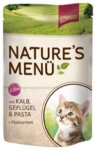 Консервы для котят Шмуси телятина с птицей70018Шмуси натура - это полноценная еда для кошек и котов с множеством натуральных ингредиентов. Корм Шмуси богат содержанием отборного мяса, потому что кошки - это настоящие хищники и нуждаются в пище, богатой белками. В этих пакетикахх маленькие кусочки мяса залиты деликатным соусом. Кроме отборного мяса в этот корм добавлены семена подорожника, которые регулируют пищеварение активных котят. Также добавлен таурин для правильного развития организма котят. Состав: Телятина, мясо домашней птицы, печень, мясные субпродукты, паста, минеральные вещества.