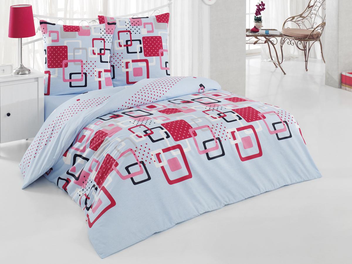 Комплект белья Tete-a-tete Classic Квадро, 2-спальный, наволочки 70х70, цвет: голубой, бордовый, коралловыйК-8065Комплект постельного белья Tete-a-Tete Classic Квадро является экологически безопасным для всей семьи, так как выполнен из бязи (100% натурального хлопка). Комплект состоит из пододеяльника, простыни и двух наволочек. Постельное белье, оформленное изящным принтом, послужит прекрасным дополнением к интерьеру вашей спальной комнаты. Гладкая структура делает ткань приятной на ощупь, мягкой и нежной, при этом она прочная и хорошо сохраняет форму. Ткань легко гладится, не линяет и не садится. Комплект постельного белья Tete-a-Tete Classic Квадро станет отличным дополнением вашего интерьера и подарит гармоничный сон.