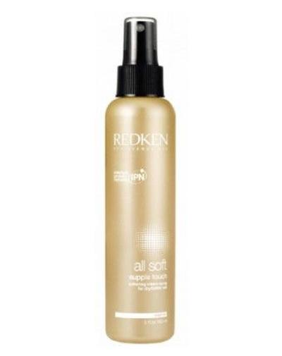 Redken несмываемый крем-спрейAll Soft 150 млP0426700Крем-спрей ухаживает за сухими и поврежденными волосами, делая их более послушными и эластичными. Без эффекта утяжеления. Рекомендуется использовать после стойкого окрашивания.