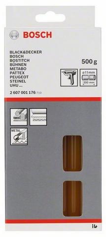 Клеевой стержень Bosch 2 607 001 176, желтый, натуральный2607001176Для твердых, прочных соединений. Для древесины, картона, упаковок, уплотнителей, металлов, периферийной наклейки. Для клеевых пистолетов Bosch, Black+Decker, Bostik, Buhnen, Metabo, Pattex, Peugeot, Steinel, Uhu.