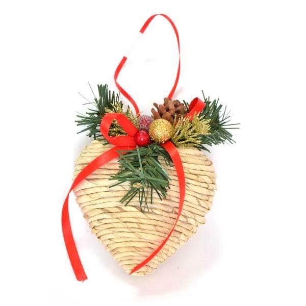 Украшение елочное подвесное Winter Wings Сердце. N180415N180415Новогоднее украшение Winter Wings Подвеска отлично подойдет для декорации вашего дома и новогодней ели. Украшение выполнено из полимера и соломы. С помощью специальной петельки украшение можно повесить в любом понравившемся вам месте. Елочная игрушка - символ Нового года. Она несет в себе волшебство и красоту праздника. Создайте в своем доме атмосферу веселья и радости, украшая всей семьей новогоднюю елку нарядными игрушками, которые будут из года в год накапливать теплоту воспоминаний.