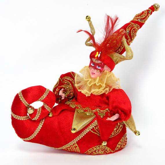 Игрушка ШУТ В САПОЖКЕ. N069627/КРN069627/КРИгрушка музыкальная Шут в сапожке. Материал: полиэстр. Размер: 25 см. Цвет: красный.