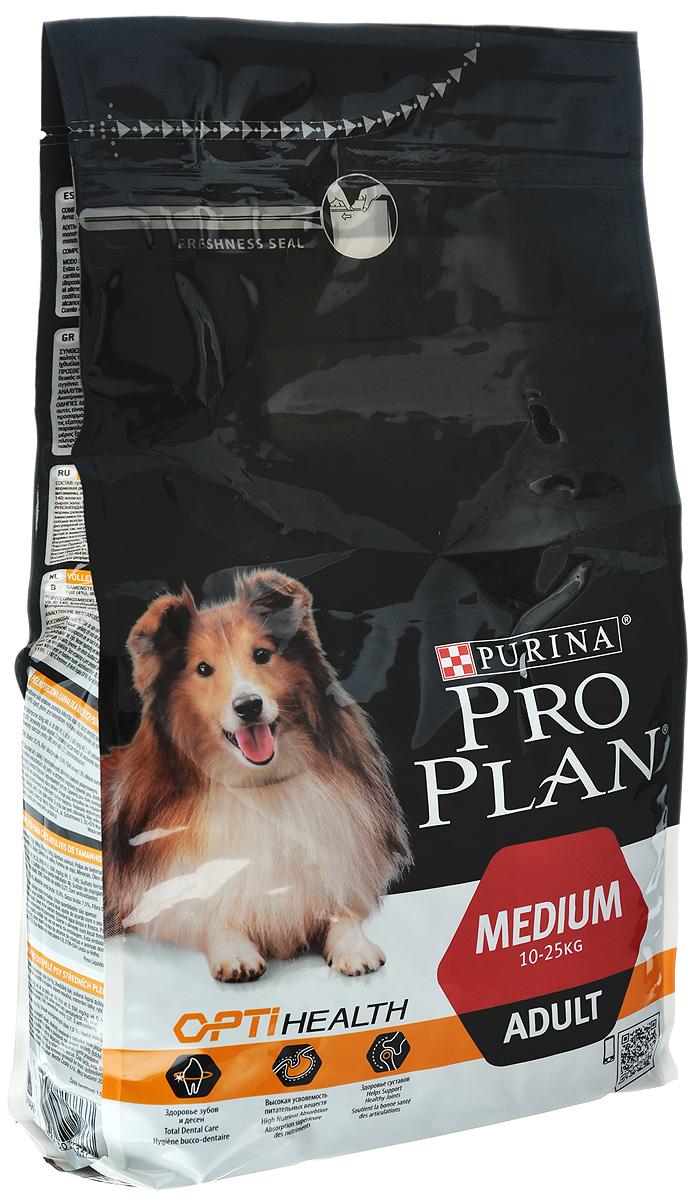 Корм сухой Pro Plan Optihealth для взрослых собак средних пород, с курицей и рисом, 7 кг12272564Корм сухой Pro Plan Optihealth - полнорационный корм для взрослых собак средних пород. Корм с разработанным комплексом Optihealth обеспечивает современное питание, которое оказывает долгосрочное влияние на здоровье собак. Он сочетает специально отобранные питательные вещества, необходимые собакам разных размеров и телосложения, поддерживает их особые потребности и помогает естественным образом сохранять идеальное здоровье. Состав: сухой белок птицы, пшеница, кукуруза, курица (14%), животный жир, сухая мякоть свеклы, рис (4%), вкусоароматическая кормовая добавка, глютен, кукурузная мука, продукты переработки растительного сырья, минеральные вещества, рыбий жир, витамины, антиоксиданты. Добавленные вещества: МЕ/кг: витамин A: 28000; витамин D3: 910; витамин E: 550; мг/кг: витамин C: 140; железо: 76; йод: 1,9; медь: 11; марганец: 35; цинк: 142; селен: 0,12. Гарантируемые показатели: белок: 25,0%; жир: 15,0%; сырая зола: 7,5%; сырая клетчатка: 2,5%. ...