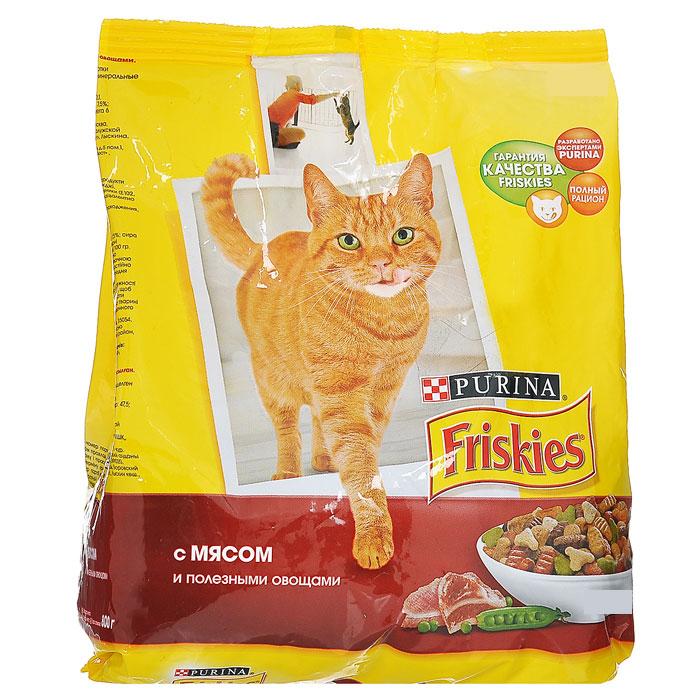 Корм сухой Friskies для домашних кошек, с мясом и полезными овощами, 10 кг29612_мясо, курица, овощиСухой корм Friskies с мясом и полезными овощами является полнорационным кормом для взрослых кошек. Кошки, живущие в домашних условиях, мало общаются с природой, поэтому им не достается многих преимуществ жизни на открытом воздухе. Поэтому корм Friskies для домашних кошек специально разработан для питомцев, большую часть времени живущих дома. Белок способствует укреплению мышц и дает энергию. Кальций, фосфор и витамин D важны для поддержания здоровья костей и зубов. Омега-6 жирные кислоты помогают поддерживать шерсть здоровой и блестящей. Таурин важен для хорошего зрения и здоровья сердца. Корм не содержит усилителей вкуса. Состав: злаки, мясо и продукты его переработки, продукты переработки овощей, растительный белок, жиры и масла, дрожжи, консерванты, минеральные вещества, витамины, красители, овощи и антиоксиданты. Добавленные вещества: МЕ/кг: витамин А 12500, витамин D3 1000; мг/кг6 железо 47,5, йод 1,5, медь 9, марганец 5, цинк...