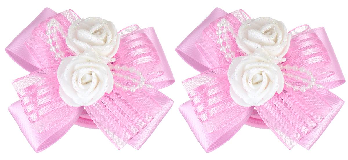 Резинка для волос Babys Joy, цвет: розовый, 2 шт. MN 133/2MN 133/2_розовыйРезинка для волос Babys Joy изготовлена из текстиля и дополнена милым бантиком, который оформлен очаровательными розочками. Комплект содержит две резинки. Резинка для волос Babys Joy надежно зафиксирует волосы и подчеркнет красоту прически вашей маленькой принцессы.