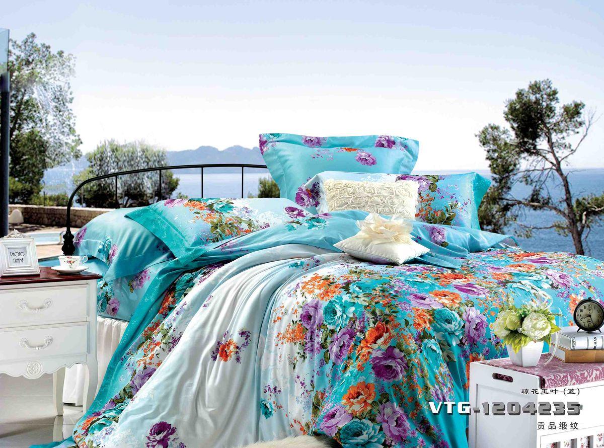 Комплект белья Диана La Vanille, 1,5-спальный, наволочки 70х70, цвет: голубой, сиреневый, красный. С-649-143-150-70С-649-143-150-70Комплект постельного белья Диана La Vanille состоит из пододеяльника, простыни и двух наволочек. Белье бесшовное, оформлено оригинальным рисунком и имеет изысканный внешний вид. Изготовлено из бязи люкс (100% хлопка). Бязь - это ткань из экологически чистого и натурального 100% хлопка. Неоспоримым плюсом белья из такой ткани является мягкость и легкость, она прекрасно пропускает воздух, приятна на ощупь, не образует катышков на поверхности и за ней легко ухаживать. При соблюдении рекомендаций по уходу это белье выдерживает много стирок, не линяет и не теряет свою первоначальную прочность. Уникальная ткань обеспечивает легкую глажку. Приобретая комплект постельного белья Диана La Vanille, вы можете быть уверенны в том, что покупка доставит вам и вашим близким удовольствие и подарит максимальный комфорт.