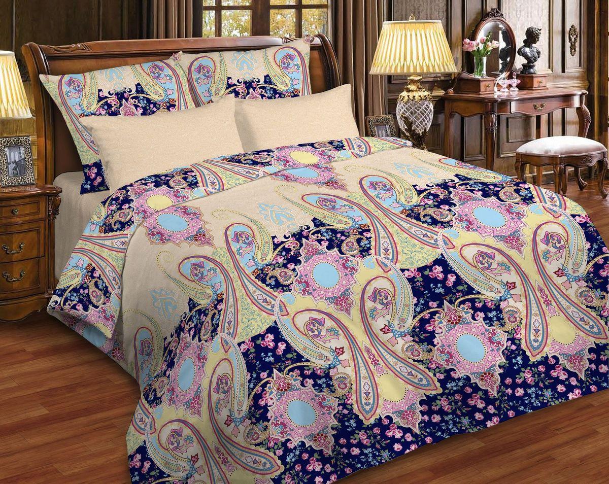 Комплект белья Диана La Vanille, 2-спальный, наволочки 70х70, цвет: фиолетовый, бордовый, песочный. С-662-175-180-70С-662-175-180-70Комплект постельного белья Диана La Vanille состоит из пододеяльника, простыни и двух наволочек. Белье бесшовное, оформлено оригинальным узором и имеет изысканный внешний вид. Изготовлено из бязи люкс (100% хлопка). Бязь - это ткань из экологически чистого и натурального 100% хлопка. Неоспоримым плюсом белья из такой ткани является мягкость и легкость, она прекрасно пропускает воздух, приятна на ощупь, не образует катышков на поверхности и за ней легко ухаживать. При соблюдении рекомендаций по уходу это белье выдерживает много стирок, не линяет и не теряет свою первоначальную прочность. Уникальная ткань обеспечивает легкую глажку. Приобретая комплект постельного белья Диана La Vanille, вы можете быть уверенны в том, что покупка доставит вам и вашим близким удовольствие и подарит максимальный комфорт.