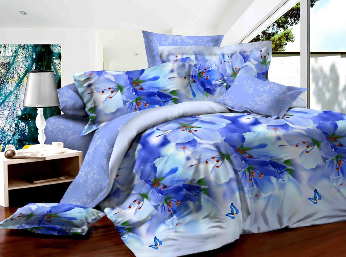 Комплект белья Диана La Vanille, дуэт, наволочки 70х70, цвет: белый, синий, голубой. С-590-143-240-70С-590-143-240-70Комплект постельного белья Диана La Vanille состоит из двух пододеяльников, простыни и двух наволочек. Постельное белье оформлено оригинальным рисунком и имеет изысканный внешний вид. Белье изготовлено бязи (100% хлопка). Бязь - это ткань из экологически чистого и натурального 100% хлопка. Неоспоримым плюсом белья из такой ткани является мягкость и легкость, она прекрасно пропускает воздух, приятна на ощупь, не образует катышков на поверхности и за ней легко ухаживать. При соблюдении рекомендаций по уходу, это белье выдерживает много стирок, не линяет и не теряет свою первоначальную прочность. Уникальная ткань обеспечивает легкую глажку. Приобретая комплект постельного белья Диана La Vanille, вы можете быть уверенны в том, что покупка доставит вам и вашим близким удовольствие и подарит максимальный комфорт.