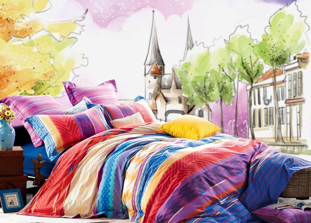 Комплект белья Диана La Vanille, 1,5-спальный, наволочки 70х70, цвет: сиреневый, желтый. С-592-143-150-70С-592-143-150-70Комплект постельного белья Диана La Vanille состоит из пододеяльника, простыни и двух наволочек. Постельное белье оформлено оригинальным узором и имеет изысканный внешний вид. Белье изготовлено бязи (100% хлопка). Бязь - это ткань из экологически чистого и натурального 100% хлопка. Неоспоримым плюсом белья из такой ткани является мягкость и легкость, она прекрасно пропускает воздух, приятна на ощупь, не образует катышков на поверхности и за ней легко ухаживать. При соблюдении рекомендаций по уходу, это белье выдерживает много стирок, не линяет и не теряет свою первоначальную прочность. Уникальная ткань обеспечивает легкую глажку. Приобретая комплект постельного белья Диана La Vanille, вы можете быть уверенны в том, что покупка доставит вам и вашим близким удовольствие и подарит максимальный комфорт.