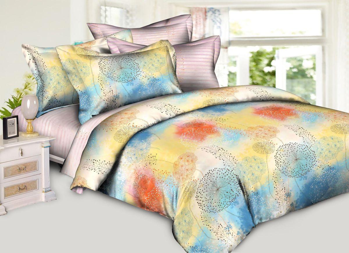 Комплект белья Диана La Vanille, 2-спальный, наволочки 70х70, цвет: розовый, желтый, голубой. С-595-175-180-70С-595-175-180-70Комплект постельного белья Диана La Vanille состоит из пододеяльника, простыни и двух наволочек. Белье бесшовное, оформлено оригинальным цветочным принтом и имеет изысканный внешний вид. Изготовлено из бязи люкс (100% хлопка). Бязь - это ткань из экологически чистого и натурального 100% хлопка. Неоспоримым плюсом белья из такой ткани является мягкость и легкость, она прекрасно пропускает воздух, приятна на ощупь, не образует катышков на поверхности и за ней легко ухаживать. При соблюдении рекомендаций по уходу это белье выдерживает много стирок, не линяет и не теряет свою первоначальную прочность. Уникальная ткань обеспечивает легкую глажку. Приобретая комплект постельного белья Диана La Vanille, вы можете быть уверенны в том, что покупка доставит вам и вашим близким удовольствие и подарит максимальный комфорт.