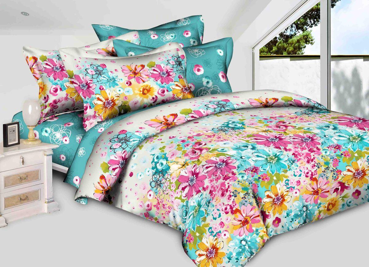Комплект белья Диана La Vanille, 1,5-спальный, наволочки 70х70, цвет: желтый, голубой, розовый. С-598-143-150-70С-598-143-150-70Комплект постельного белья Диана La Vanille состоит из пододеяльника, простыни и двух наволочек. Белье бесшовное, оформлено оригинальным рисунком и имеет изысканный внешний вид. Изготовлено из бязи люкс (100% хлопка). Бязь - это ткань из экологически чистого и натурального 100% хлопка. Неоспоримым плюсом белья из такой ткани является мягкость и легкость, она прекрасно пропускает воздух, приятна на ощупь, не образует катышков на поверхности и за ней легко ухаживать. При соблюдении рекомендаций по уходу это белье выдерживает много стирок, не линяет и не теряет свою первоначальную прочность. Уникальная ткань обеспечивает легкую глажку. Приобретая комплект постельного белья Диана La Vanille, вы можете быть уверенны в том, что покупка доставит вам и вашим близким удовольствие и подарит максимальный комфорт.
