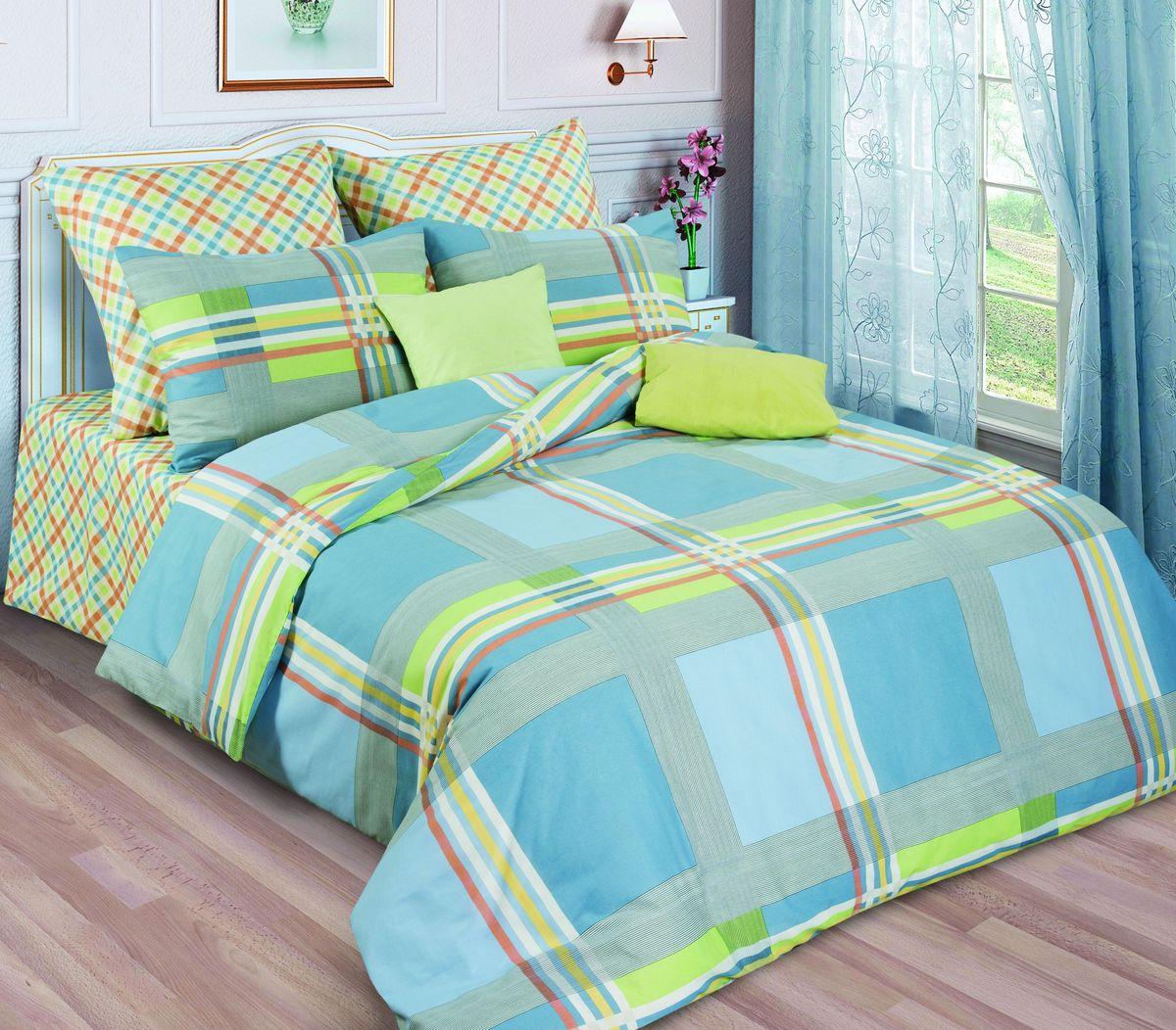 Комплект белья Диана La Vanille, 1,5-спальный, наволочки 70х70, цвет: зеленый, серый, голубой. С-644/2-143-150-70С-644/2-143-150-70Комплект постельного белья Диана La Vanille состоит из пододеяльника, простыни и двух наволочек. Белье бесшовное, оформлено оригинальным рисунком и имеет изысканный внешний вид. Изготовлено из бязи люкс (100% хлопка). Бязь - это ткань из экологически чистого и натурального 100% хлопка. Неоспоримым плюсом белья из такой ткани является мягкость и легкость, она прекрасно пропускает воздух, приятна на ощупь, не образует катышков на поверхности и за ней легко ухаживать. При соблюдении рекомендаций по уходу это белье выдерживает много стирок, не линяет и не теряет свою первоначальную прочность. Уникальная ткань обеспечивает легкую глажку. Приобретая комплект постельного белья Диана La Vanille, вы можете быть уверенны в том, что покупка доставит вам и вашим близким удовольствие и подарит максимальный комфорт.