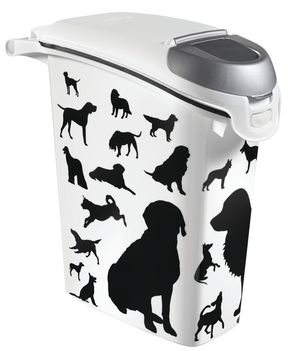 Curver PetLife Контейнер для корма Собаки, черно-белый, на 10кг/23л, 23*50*50см18597Контейнеры для хранения сухого корма, с крышкой. Одним из основных преимуществ хранения сухого корма в пластиковых контейнерах является отсутствие влаги. Влага, как известно, способствует образованию плесени!Контейнеры Curver оснащены плотно закрывающийся крышкой, что позволяет предотвратить проникновение не только влаги, но паразитов и грызунов. • Из экологически чистого пищевого пластика • Не содержат вредных примесей • Оснащен герметичной крышкой • Позволяет сохранить вкус и запах корма • Вытянутая форма контейнера делает его удобным для хранения • Сохранность органолептических показателей корма до истечения срока годности