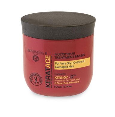 Egomania Professional Collection Маска Keratage Ультрапитание для очень сухих, окрашенных и поврежденных волос 500 мл830176Маска интенсивно питает, увлажняет волосы изнутри, укрепляя их структуру, и способствует долгому сохранению цвета волос. Уникальный комплекс КЕРНОКС-Д на основе минералов Мертвого моря, экстракта граната, масел примулы и шиповника укрепляет структуру окрашенных волос, защищает их от пересушивания и замедляет процесс старения волосЭкстракты ромашки и граната, розмарина лекарственного плотно запечатывают кутикулу волоса. Сок листьев алоэ обволакивает структуру волоса, делая ее легкой, защищенной и целостной.