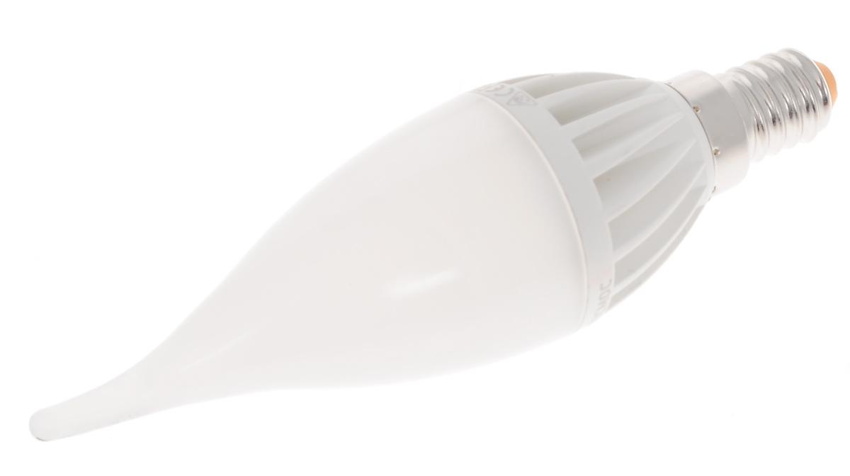 Светодиодная лампа Kosmos, теплый свет, цоколь E14, 5W, 220V. Lksm_LED5wCWE1430Lksm_LED5wCWE1430Высокоэкономичная светодиодная лампа КОСМОС LED CW 5Вт 220В E14 3000K (Lksm LED5wCWE1430) основана на применении 12-ти светодиодных чипов экстра-класса от Samsung. Способна выдавать световой поток в 460 Люмен и бесперебойно прослужить до 50-ти тысяч часов. Задержка при включении отсутствует. Световой пучок распространяется под углом в 270 градусов. Аналогична лампе ОН в 60 Ватт.