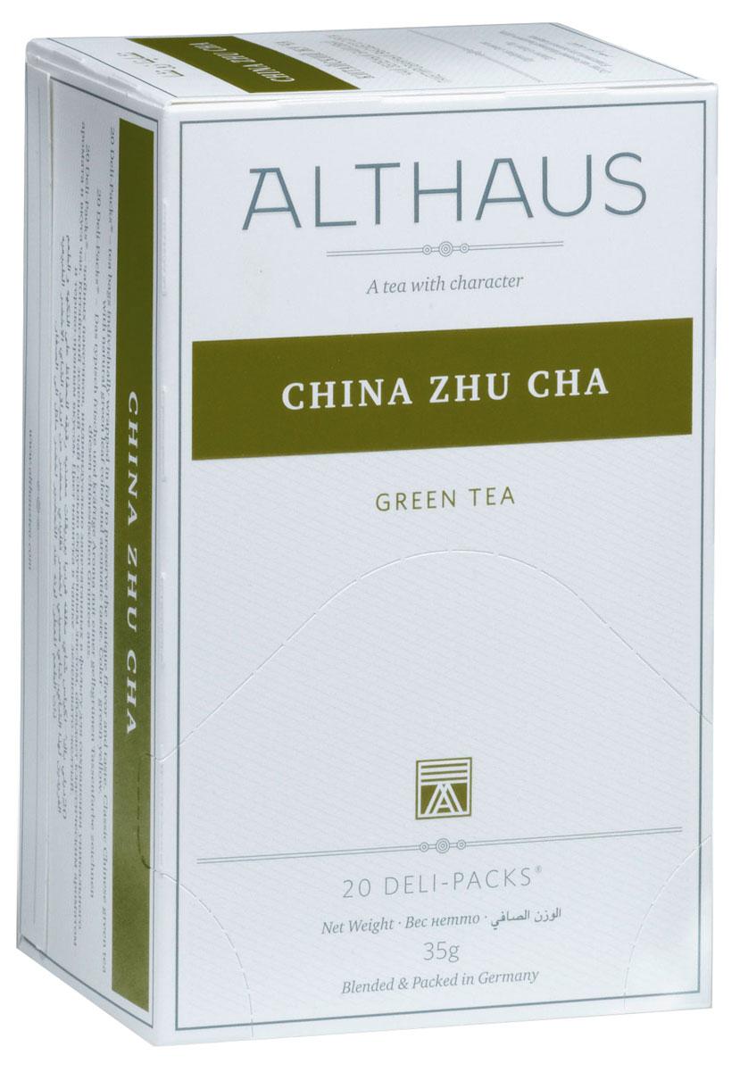 Althaus China Zhu Cha чай зеленый в пакетиках, 20 штTALTHB-DP0018China Zhu Cha - популярный зеленый чай с классическим ароматом и терпким травянистым вкусом. Легкие смолисто-дымные оттенки, явная кислинка и нота сухофруктов создают индивидуальность этого чая. В Азии Жу Ча приобрел широкую популярность как повседневный зеленый чай. Он часто используется в различных смесях и ароматизированных чаях. Оптимальная температура заваривания чая Китайский Жу Ча 80°С. В каждой упаковке находится по 20 пакетиков чая для чашек. Страна: Китай. Температура воды: 80-90 °С. Время заваривания: 2-3 мин. Цвет в чашке: зелено-желтый. Althaus - премиальная чайная коллекция. Чай, ингредиенты и ароматизаторы для своих купажей компания Althaus получает от тщательно выбираемых чайных садов, мировых поставщиков высококачественных сублимированных фруктов и трав, а также ведущих европейских производителей ароматизаторов. Пакетик Deli Pack представляет собой порционный двухкамерный мешочек из фильтр-бумаги, запаянный в...