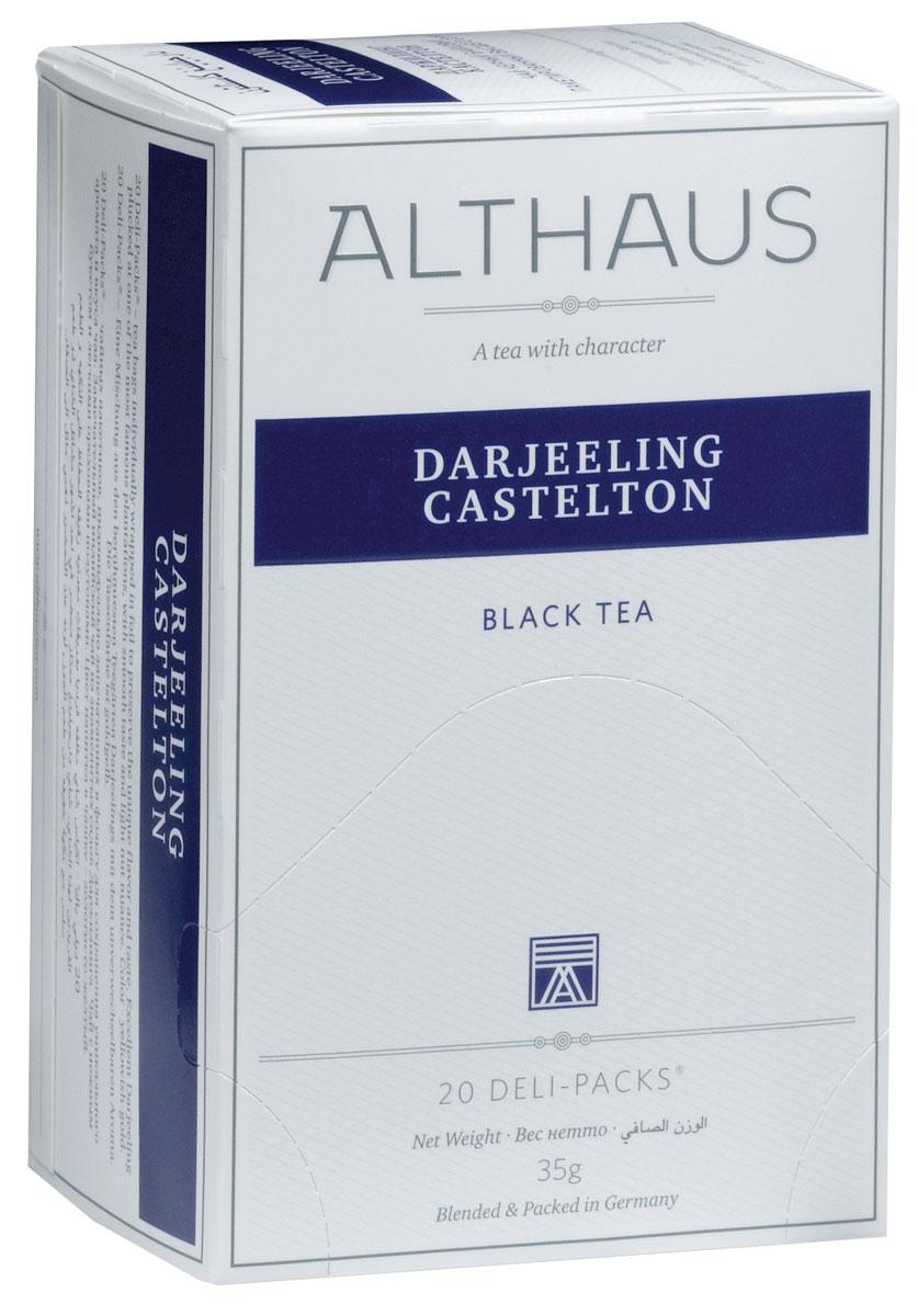 Althaus Darjeeling Castelton чай в пакетиках, 20 штTALTHB-DP0016Darjeeling Castelton — высокогорный черный индийский чай, собранный на одной из самых знаменитых плантаций. Это летний сбор Даржилинга, более крепкий, чем ранние сорта. Darjeeling Casteltonобладает мягким вкусом с легким ореховым оттенком и нежным ароматом. Оптимальная температура заваривания Darjeeling Castelton 90°С. В каждой упаковке находится по 20 пакетиков чая для чашек. Страна: Индия. Температура воды: 85-100 °С. Время заваривания: 3-5 мин. Цвет в чашке: желто-золотой. Althaus - премиальная чайная коллекция. Чай, ингредиенты и ароматизаторы для своих купажей компания Althaus получает от тщательно выбираемых чайных садов, мировых поставщиков высококачественных сублимированных фруктов и трав, а также ведущих европейских производителей ароматизаторов. Пакетик Deli Pack представляет собой порционный двухкамерный мешочек из фильтр-бумаги, запаянный в специальный термоконверт с алюминиевой фольгой. Материал конвертов, в которые...