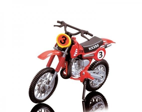 Dickie Toys Кроссовый мотоцикл № 3 цвет красный ( 3385773_красный №3 )