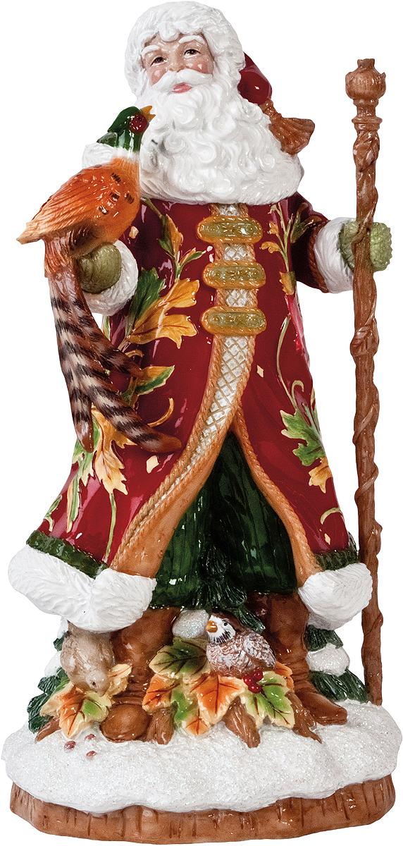 Новогодняя декоративная фигурка Fitz and Floyd Новогоднее изобилие, музыкальная, высота 24 см29-338Новогодняя декоративная фигурка Fitz and Floyd Новогоднее изобилие, изготовленная из полистоуна, выполнена в виде Санты Клауса. Особенностью данной статуэтки является наличие ручного механизма, при включении которого начинает играть приятная мелодия. Такая фигурка станет не только украшением праздника, но и отличным подарком на Новый год или Рождество. Размер фигурки: 12 см х 12 см х 24 см.