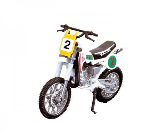 Dickie Toys Кроссовый мотоцикл № 2 цвет белый ( 3385773_белый №2 )