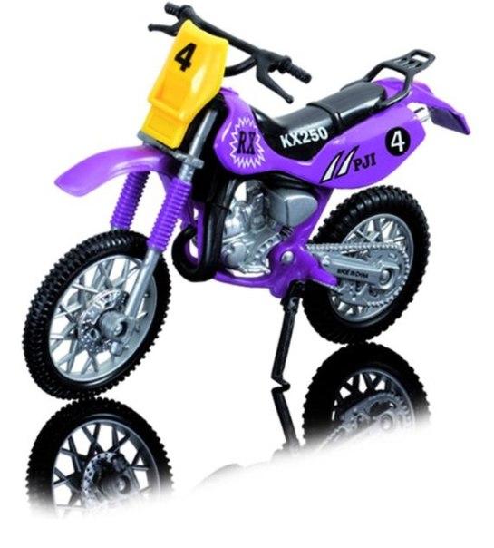 Dickie Toys Кроссовый мотоцикл № 4 цвет фиолетовый ( 3385773_фиолетовый №4 )