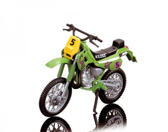 Dickie Toys Кроссовый мотоцикл № 5 цвет салатовый ( 3385773_салатовый №5 )