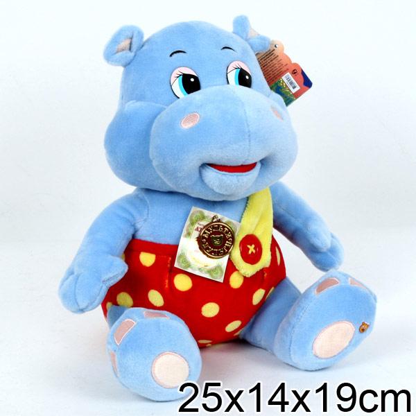 Мульти-Пульти Мягкая игрушка бегемотик по дороге с облакамиF8-W1560 (24)Мягкая игрушка Бегемотик споет вашему малышу несколько песенок и скажет интересные фразы из мультфильма По дороге с облаками.