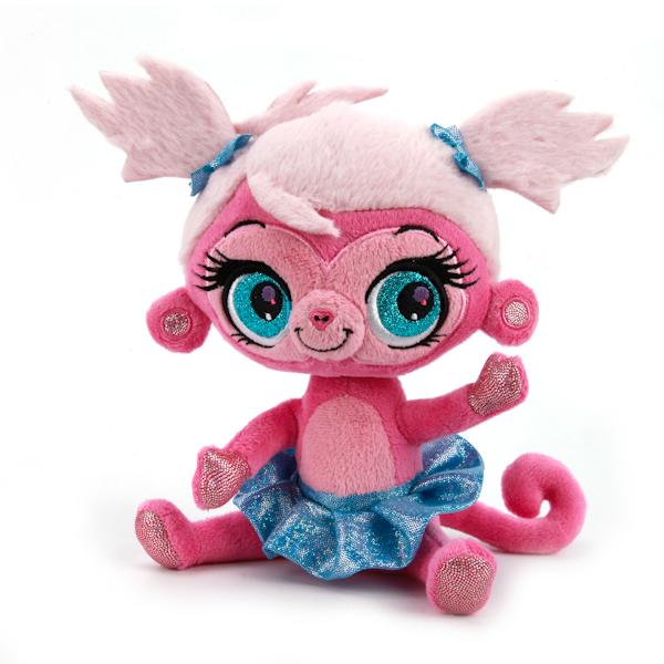 Мульти-Пульти Мягкая игрушка обезьянка lpsV27716/17Чудесная обезьянка Littlest Pet Shop, дизайн которой был разработан в студии Дисней, очень любит красивые юбочки и модные прически. У нее добрая улыбка и трогательные огромные глаза. Красотка-обезьянка очень ловкая и любит балет! Она учит детей заботе и бережному отношению к животным, ведь такую милую крошку просто невозможно обидеть! Серия Littlest Pet Shop пользуется огромной популярностью у многих детей, ведь все зверушки, входящие в нее, - само очарование! Игрушка сделана из качественных материалов, поэтому будет радовать вашего малыша максимально долгий срок.