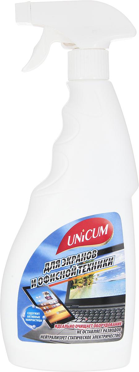 """Средство для чистки офисной техники и экранов """"Unicum"""", 500 мл 300322"""